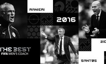 Ranieri, Santos, Zidane to battle for FIFA's coach of the year award