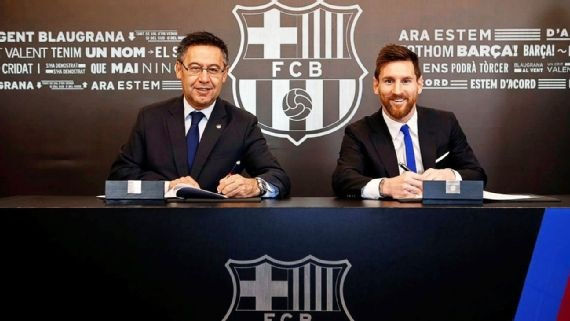 Barcelona wants to keep Messi in the club forever